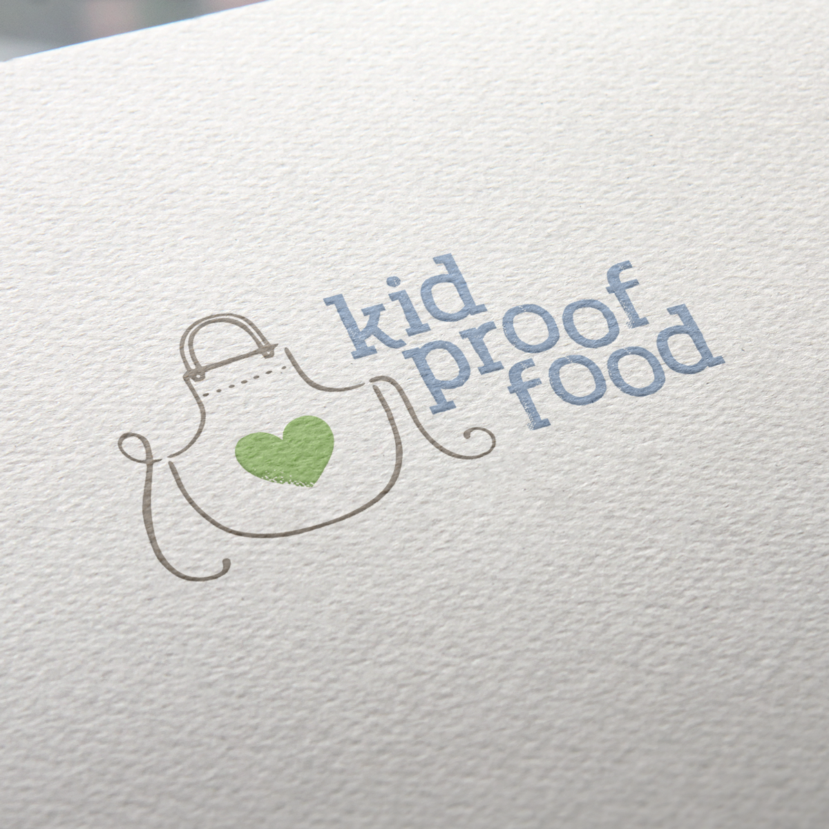 Kid Proof Food Logo Paper Mockup