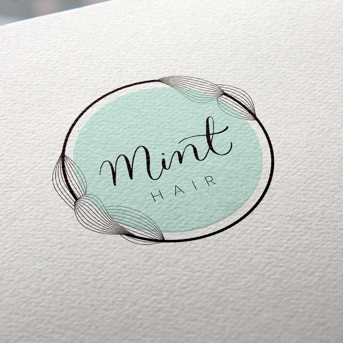 Mint Hair Logo Paper