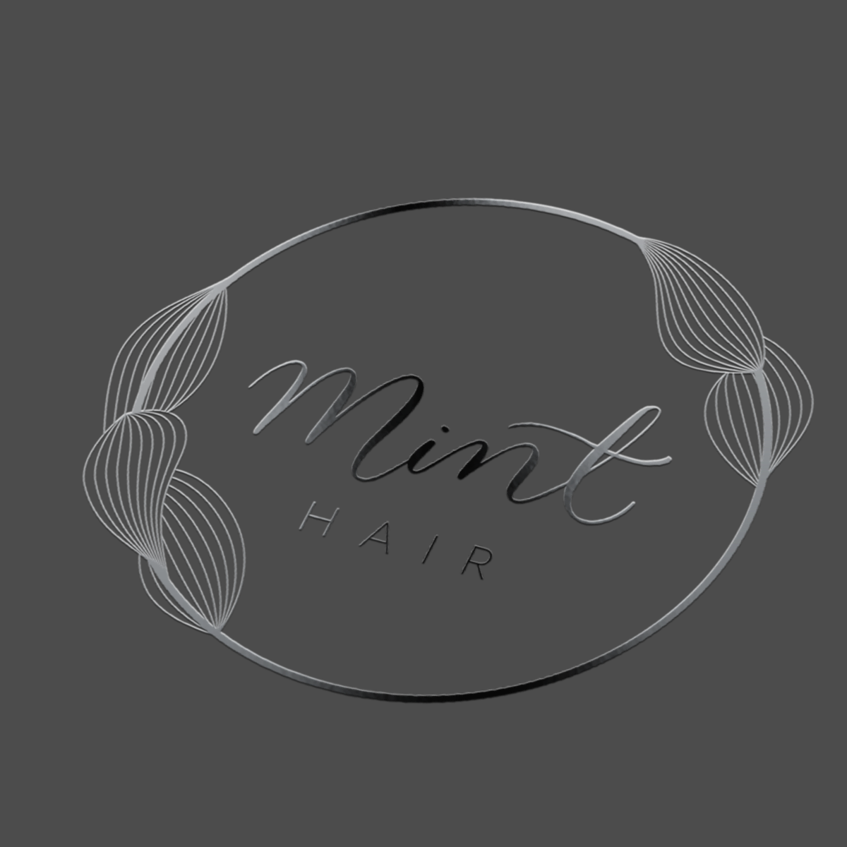 Mint Hair Logo Spot UV